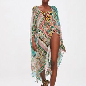 Zara printed kimono nwt medium